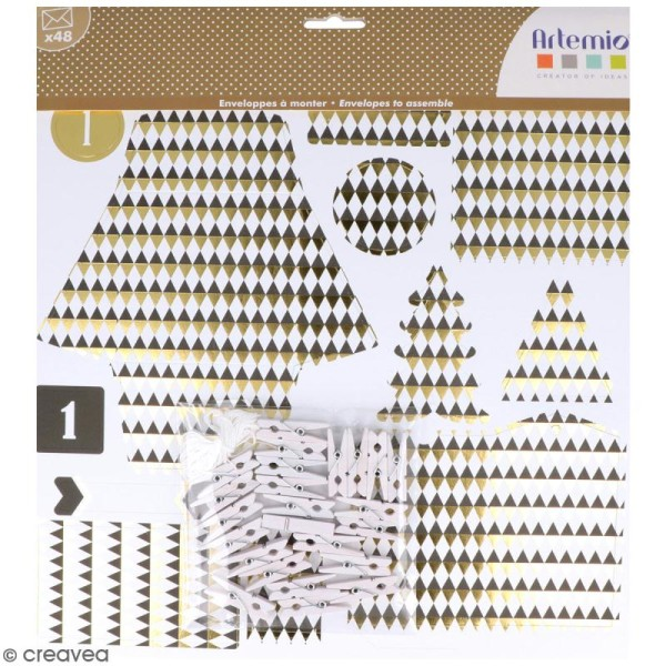 Set enveloppes à monter - Golden Deer - 24 pcs - Photo n°1