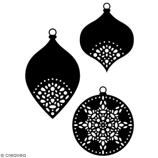 Die Artemio Misty Winter   Boules de Noël   4,5 à 5 cm   3