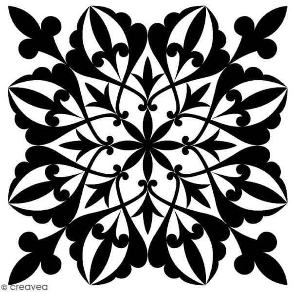 Tampon Bois Artemio - Flocon - 3 x 3 cm - Photo n°1