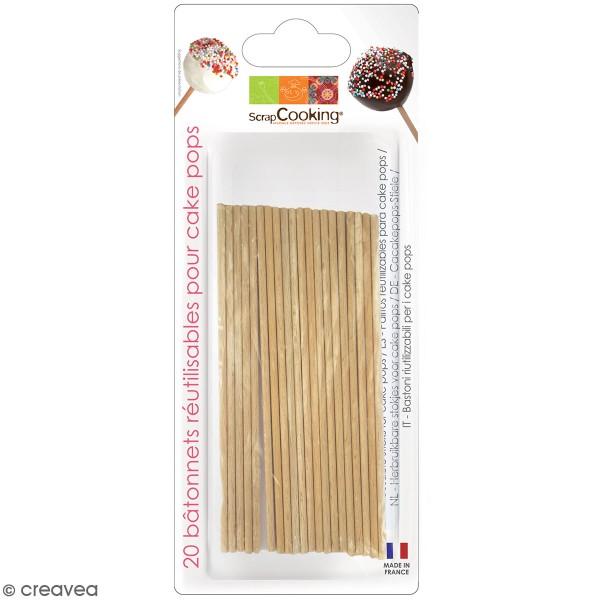 Bâtonnet pour cake pops 11 cm x 20 - Photo n°1