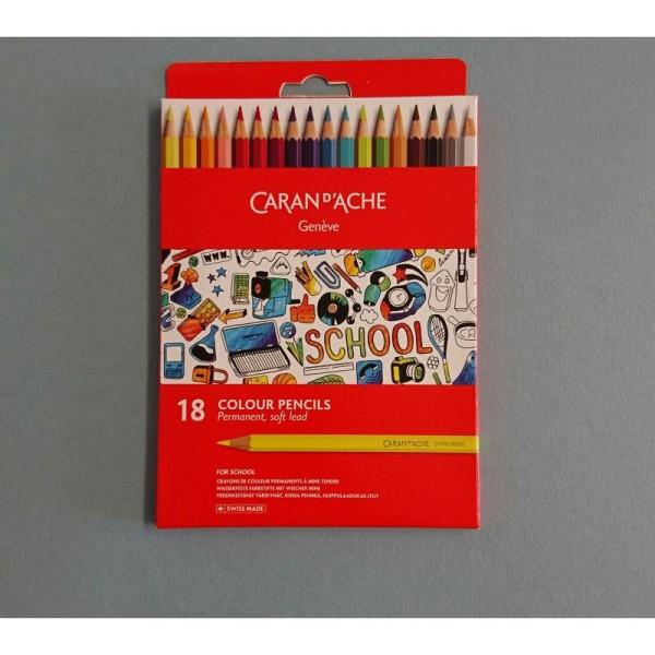 18 Crayons de couleurs permanents - Photo n°1