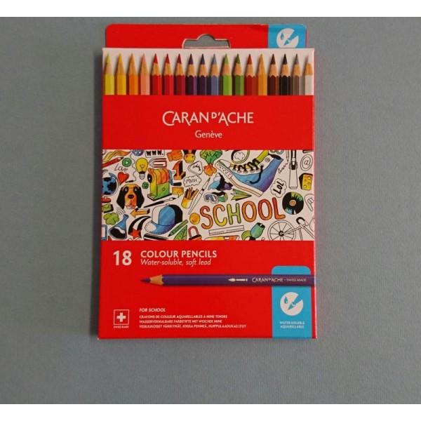 18 Crayons de couleurs aquarellables - Photo n°1