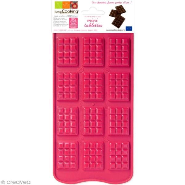 Moule chocolat - Mini tablette x 12 - Photo n°1