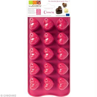 Moule chocolat - Coeur x 15