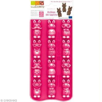 Moule chocolat - Drôles de lapins x 12