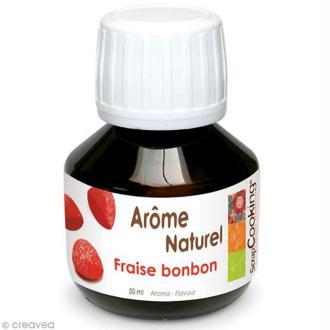 Arôme alimentaire naturel Bonbon à la fraise 50 ml