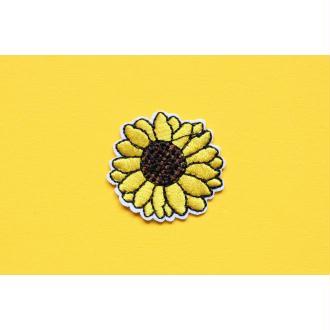 Patch Tournesol, Écusson fleur, Patch thermocollant, patch vêtement, Patch brodé