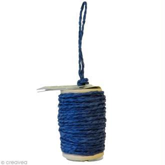 Cordelette en papier 2 mm - Bleu - 10 m