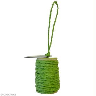 Cordelette en papier 2 mm - Vert anis - 10 m
