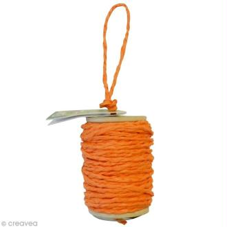 Cordelette en papier 2 mm - Orange - 10 m