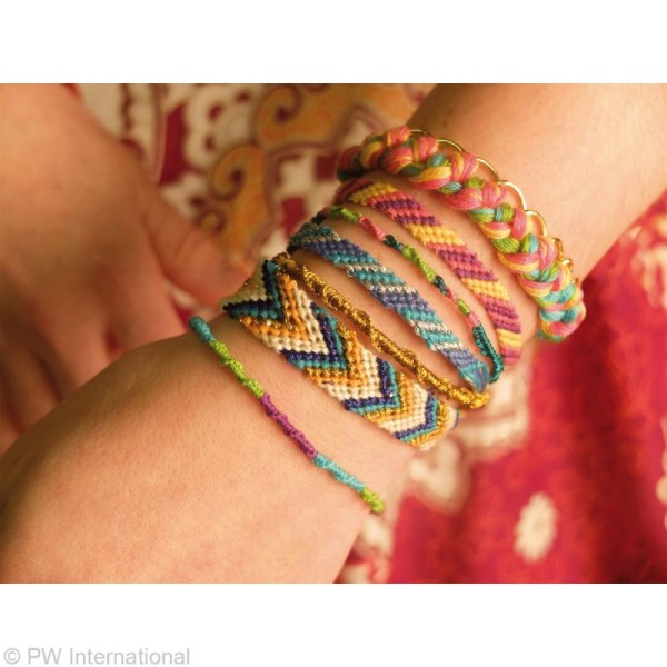 Fil pour bracelet brésilien Océan x 8 + 4 échevettes métallisées - Photo n°2