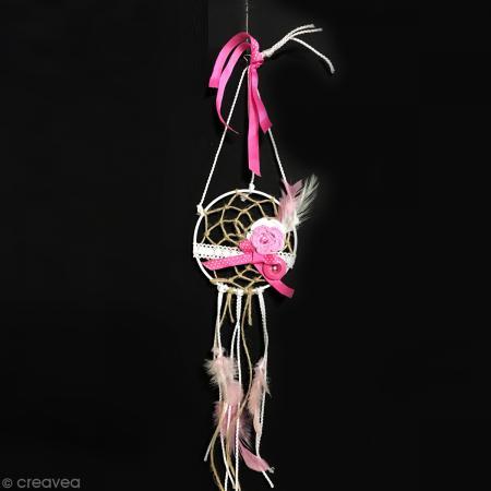 Plumes Indien Camaïeu rose - 15 cm - 10 gr - Photo n°6