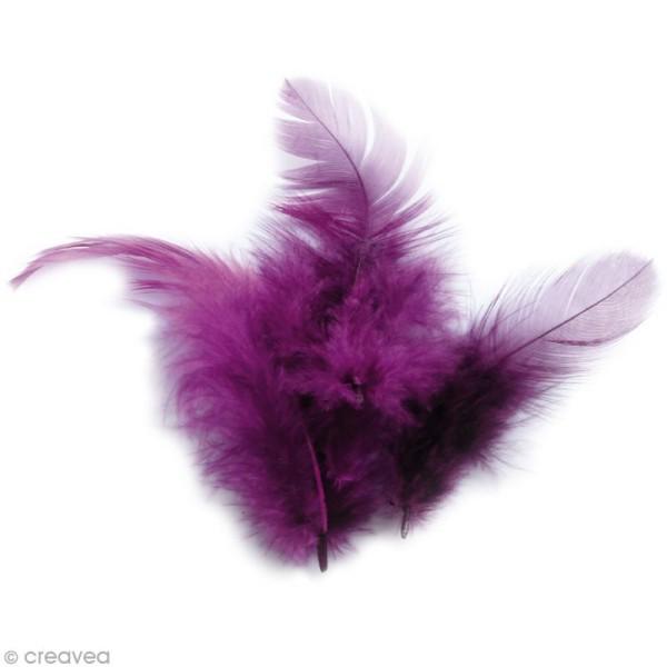 Plumes Coq Violet - 10 cm - 3 gr - Photo n°1