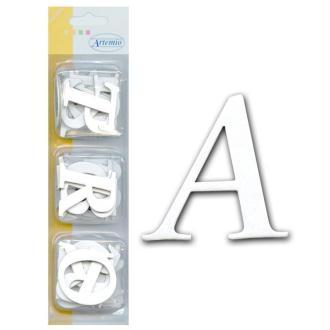 Alphabet en carton blanc autocollant Majuscule Basique Mini x 60