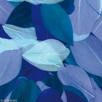 Plumes Coupées Camaïeu bleu - 6 cm - 10 gr