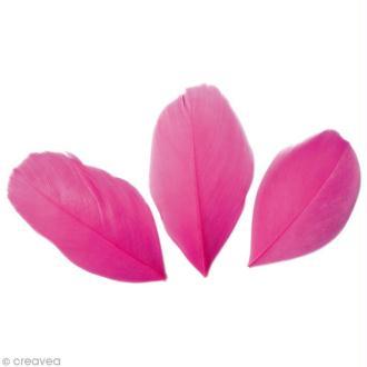 Plumes Coupées Rose vif - 6 cm - 3 gr