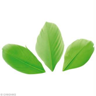 Plumes Coupées Vert clair - 6 cm - 3 gr