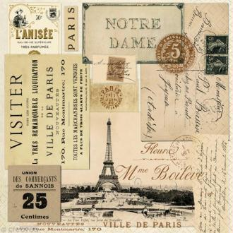 Serviette en papier Culture - Paris vintage