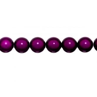 10x perles Magiques Rondes 10mm PRUNE