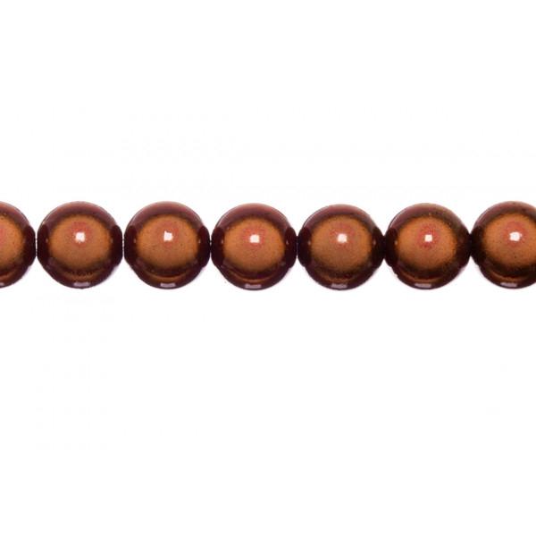 10x perles Magiques Rondes 10mm ROUX - Photo n°1