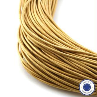 1m Cuir Européen 1.5mm Qualité Premium DORE METALLISE