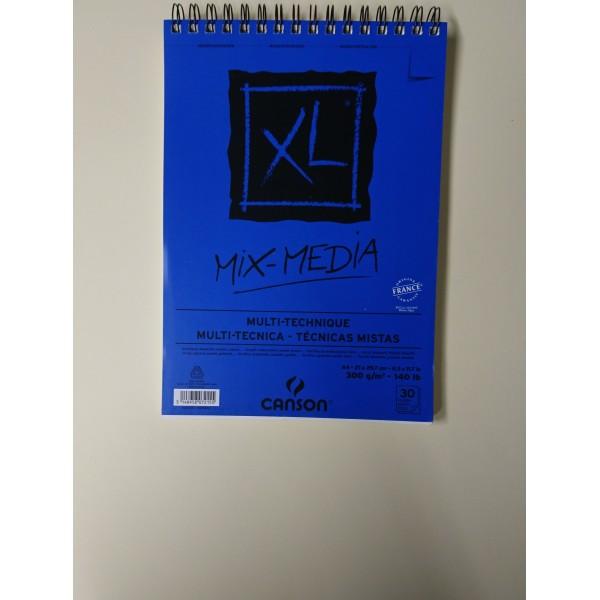 Carnet A4 Canson XL - Mix-Media - 30 feuilles - Photo n°2