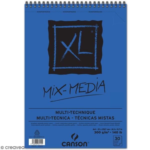 Carnet A4 Canson XL - Mix-Media - 30 feuilles - Photo n°1