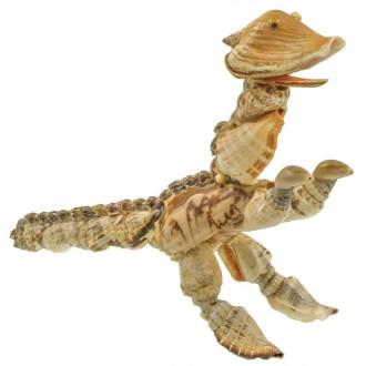 Dinosaure brachiosaure fabriqué avec des coquillages