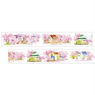 Washi Tape ruban adhésif scrapbooking 3,5 cm x 7 m VILLAGE