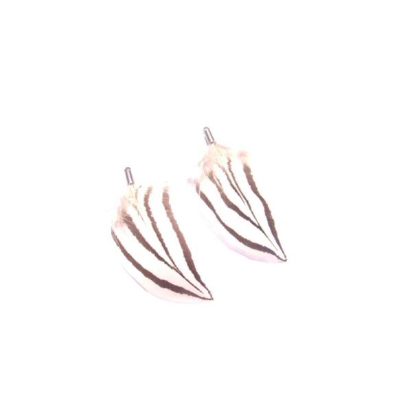 Faisan Argenté : Paire de pendentifs 5,2 CM de hauteur environ - Photo n°2