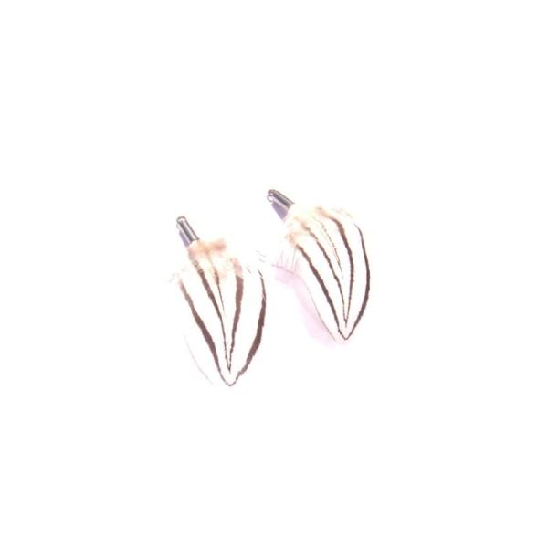 Faisan Argenté : Paire de pendentifs 4 CM de hauteur environ ( B ) - Photo n°2