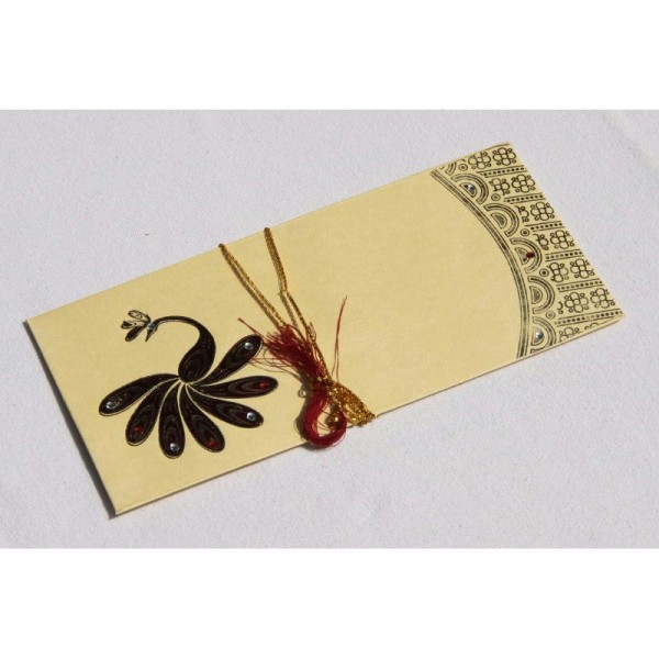 Lot de 5 enveloppes traditionnelles indiennes 180x85 - Photo n°2