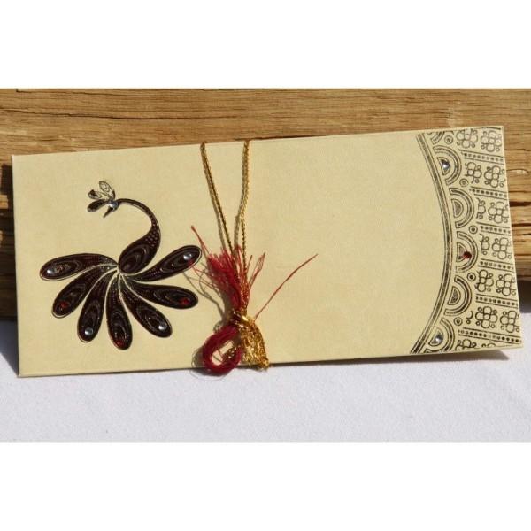 Lot de 5 enveloppes traditionnelles indiennes 180x85 - Photo n°3