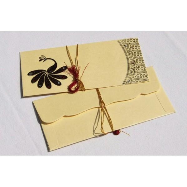 Lot de 5 enveloppes traditionnelles indiennes 180x85 - Photo n°1