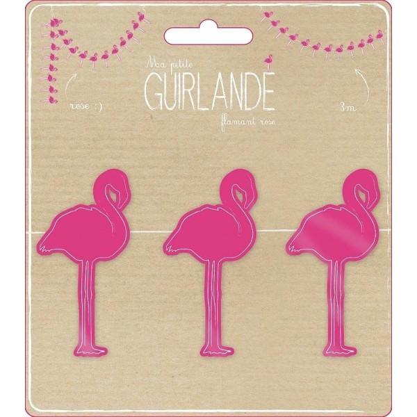 Guirlande Flamants Roses décorative en papier cartonné pour une déco Tropicale et Estivale, haut.10 - Photo n°2