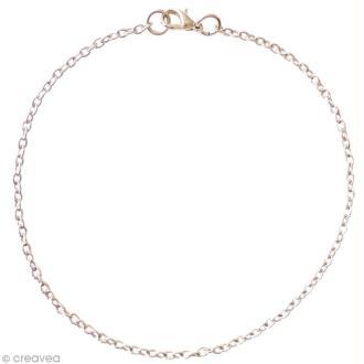 Chaine bracelet Argenté - Petites mailles 2 mm - 20 cm