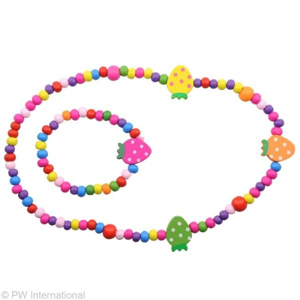 Kit bijoux - Collier et bracelet - Fruits Multicolores - Photo n°2