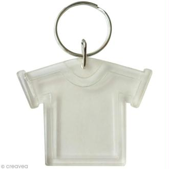 Porte-clé transparent t-shirt pour photo - 6 pcs