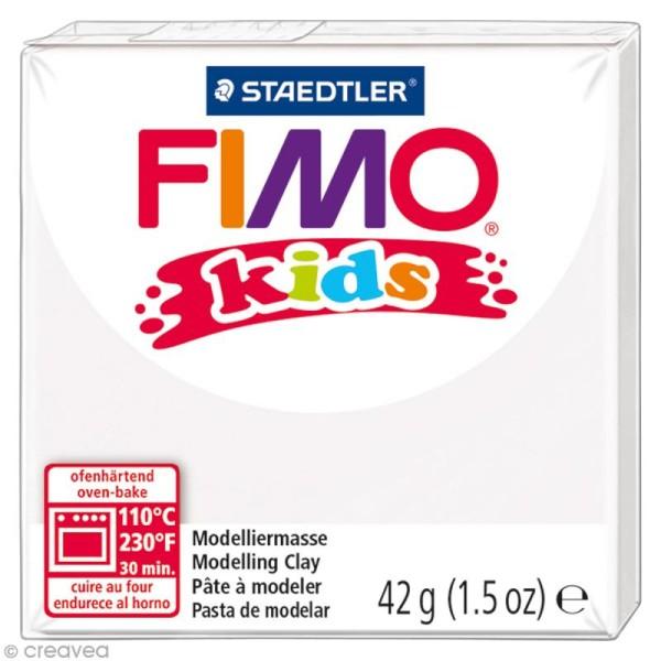 Pâte Fimo Kids Blanc 0 - 42 gr - Photo n°1