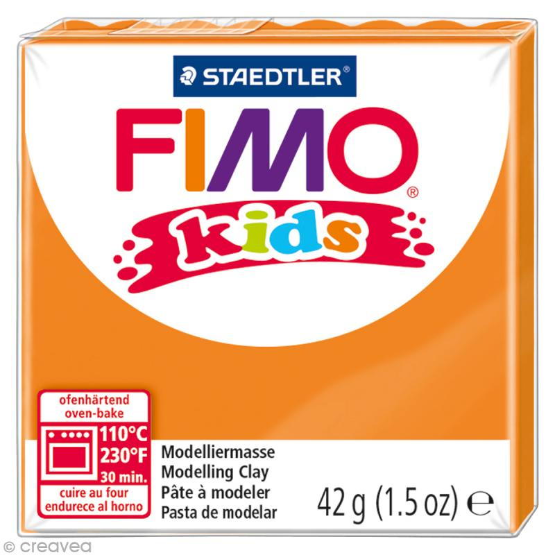 Fimo Kids Orange 4 - 42 gr - Photo n°1