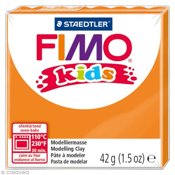 Pâte Fimo Kids Orange 4 - 42 gr - Photo n°1