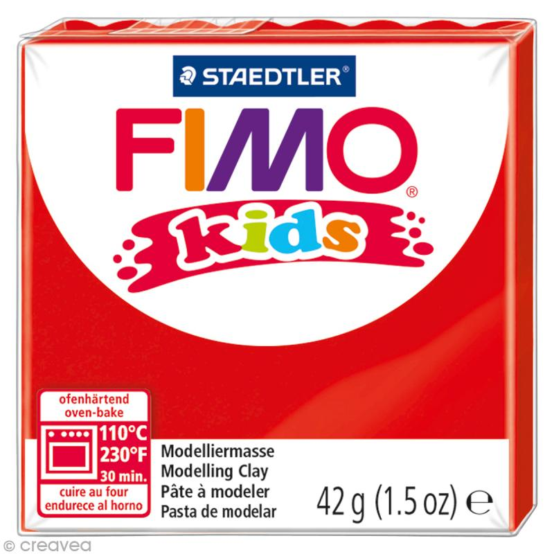 Fimo Kids Rouge 2 - 42 gr - Photo n°1