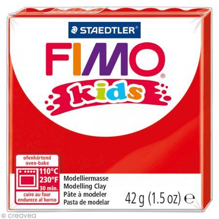 Fimo Kids Rouge 2 - 42 gr - Photo n°1