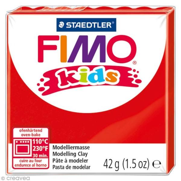 Pâte Fimo Kids Rouge 2 - 42 gr - Photo n°1