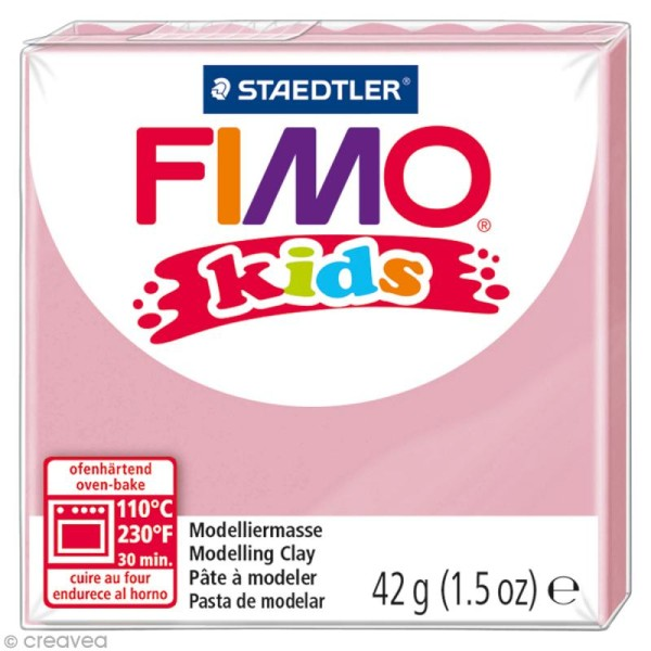 Pâte Fimo Kids Rose 25 - 42 gr - Photo n°1