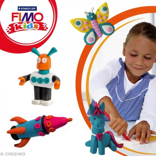Pâte Fimo Kids Rose fuchsia 220 - 42 gr - Photo n°2
