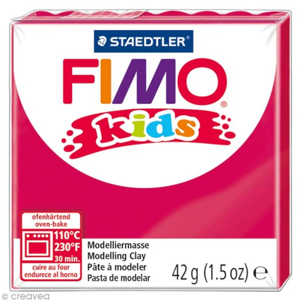 Pâte Fimo Kids Rose fuchsia 220 - 42 gr - Photo n°1