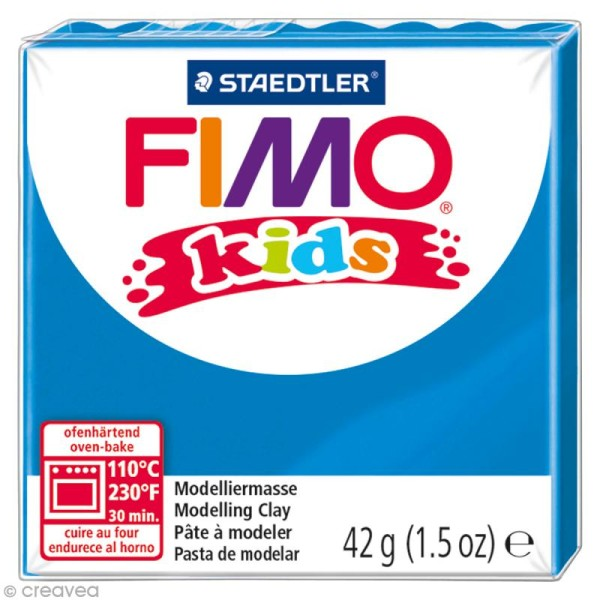 Pâte Fimo Kids Bleu 3 - 42 gr - Photo n°1