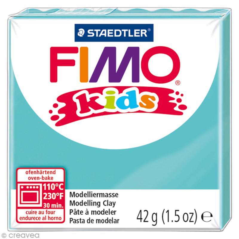 Fimo Kids Bleu turquoise 39 - 42 gr - Photo n°1