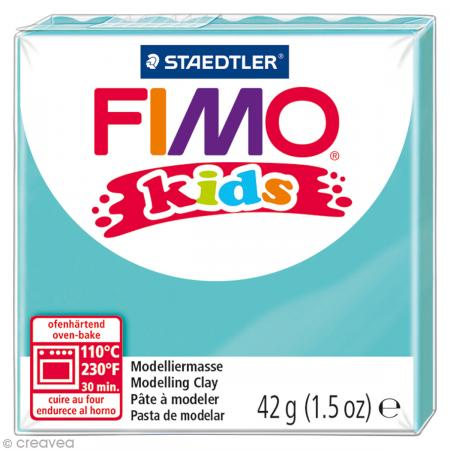 Fimo Kids Bleu turquoise 39 - 42 gr - Photo n°1